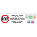 Coles - 10% Off The Kids Card, The Teen Card, The Baby Card, The Him Card, The Her Card, The Home Card, The Cinema Card and The Pamper Card Gift Cards