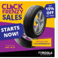 Tyroola - Click Frenzy Sale: 15% Off Tyres (code)