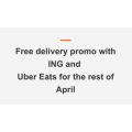 Uber Eats - FREE Delivery for ING Customers - Valid until 30th April