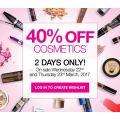 Priceline - 2 Days Sale: 40% Off Cosmetics ( L'Oréal, Rimmel, NYX, Revlon etc.) - Starts Wed, 22nd March