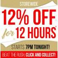 Bing Lee - 12% Off for 12 Hours Sale! Starts 7 P.M, Tonight