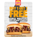 Hungry Jacks - Buy 1 Grill Masters Pulled Beef & Angus Burger Get 1 Free via App