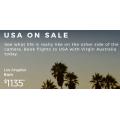 Virgin Australia - U.S.A Flight Sale: Up to 25% Off International Return Flight Fares