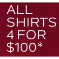 Van Heusen - 4 Shirts for $100 Delivered (code)! Usually $69.95 Each