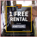 Video Ezy - 1 Free Movie Rental (code)! Today Only