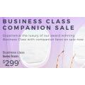 Virgin Australia - Business Class Companion Sale: Fly to Sydney $299; New Zealand $439; Hong Kong $2859; USA $5499