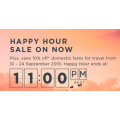 Virgin Australia - Happy Hour Sale: Domestic Flights from $90 + 10% Off Getaway & Elevate Domestic Fares