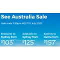 Virgin Australia - See Australia Sale: Domestic Flights from $103 e.g. Brisbane to Sydney $103 etc.