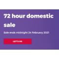 Virgin Australia - 72 Hours Domestic Flight Sale: One-Way Fares from $75 e.g. Sydney to Ballina Byron $75 etc.