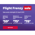 Virgin Australia - Click Frenzy Sale: Up to 30% Off Domestic Flights - Fly from $59