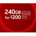 Vodafone - Unlimited Talk & Text 240GB Prepaid Plus Starter Pack, Now $200 (Incld. Bonus 90GB Data)
