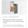 Vodafone - LG K42 4G 64GB Smartphone for $1/month for 36 Months (Usually $5/month)