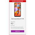 Vodafone - Samsung Galaxy A11 32GB 4G 36 Months Plan $1/month + Additional Plan Cost (Usually $7)! Save $216