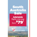 Virgin Australia - Fly to Adelaide from $79 One-Way @ Webjet