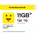 Woolworths Mobile - Bonus 5GB Data with Unlimited Talk & Text 11GB Mobile Data Plan, Now $10 (Was $20)