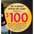 Bonus EFTPOS Gift Card with HP LCD or LED Monitors!