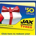 Purchase any 4 Pirelli tyres, receive FREE JAXQuickfit $50 gift card!
