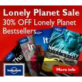 30% Off Lonely Planet Bestsellers